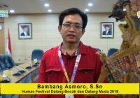 Himbauan Bambang Asmoroagar para pelaku pedalangan untuk GO DIGITAL