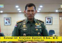 Sambutan Kolonel Inf. Kristomei Sianturi, S.Sos., M.Si, selaku Kepala Penerangan Kodam Jaya