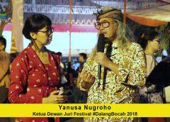 Wawancara dengan Yanusa Nugroho, Ketua Dewan Juri Festival #DalangBocah Tingkat Nasional 2018