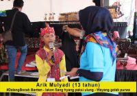 Arik Mulyadi, Dalang Bocah asal Banten, dengan lakon Sang Hyang Paksi Ulung