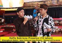 Daffa Sakrisna Prasetyo, Dalang Bocah asal Madiun, dengan lakon Katresnan Kang Sinamun
