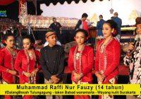 M Raffi Nur Fauzy, Dalang Bocah asal Tulungagung dengan lakon Babat Wanamarta